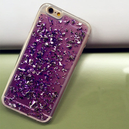 Rose Gold Foil Bling Paillette Sequin Cover For iphone 6 Case For