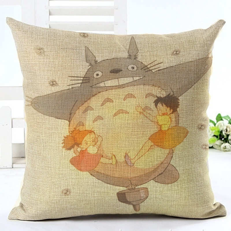 Cartoon Style Fashion Decorative Cushion Cover Cute Totoro Printed