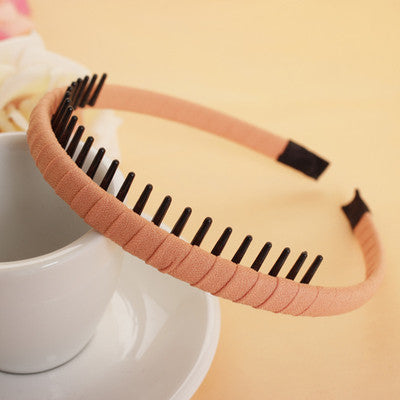New Fashion Multicolor Headband with Teeth Practical Cloth Hair Band