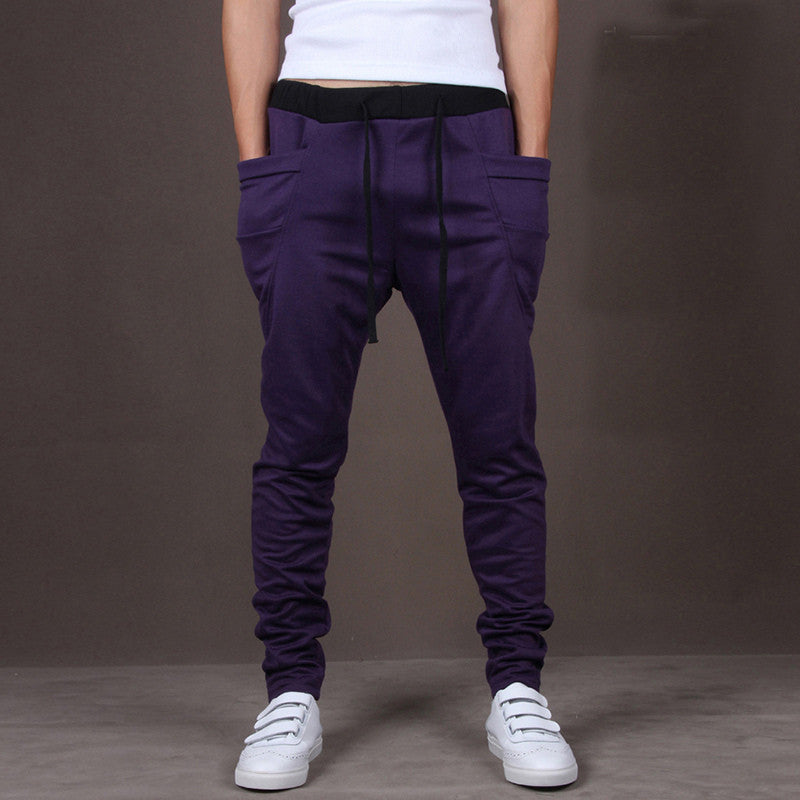 Casual Men Pants Hot Sale Unique Big Pocket Hip Hop Harem Pants