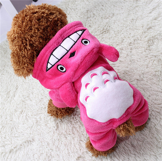 Soft Fleece Dog Clothes Warm Pet Costume Winter Dogs Coat Autumn Hoody