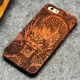 Retro PC+Wood Skull Case for iPhone 5 5S iPhone SE Novetly Vintage Case Cover for iPhone 5S 6 6S Plus 7 7 Plus 5.5inch
