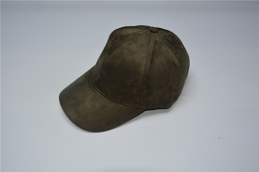 New Suede Baseball Cap Mens Casquette Bone cap Fashion Snapback