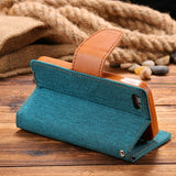 i5 SE Book Flip Style Cloth Skin Full Protective Case For iPhone 5S SE 5 5G Card Slot Wallet Holster Leather Cover For iPhone 5S