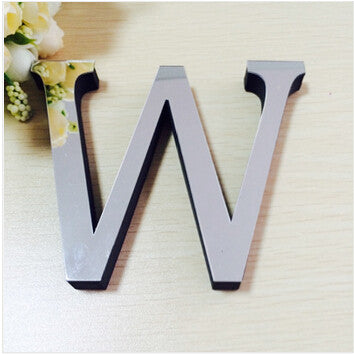 New Acrylic Mirror 3D DIY wall stickers stickers English letters