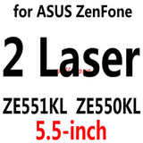 Tempered Glass Screen Protector Film for ASUS Zenfone Selfie ZD551KL/2 Laser ZE500KL ZE550KL 3 4 5 6/GO ZC500TG ZB452KG ZB551KL