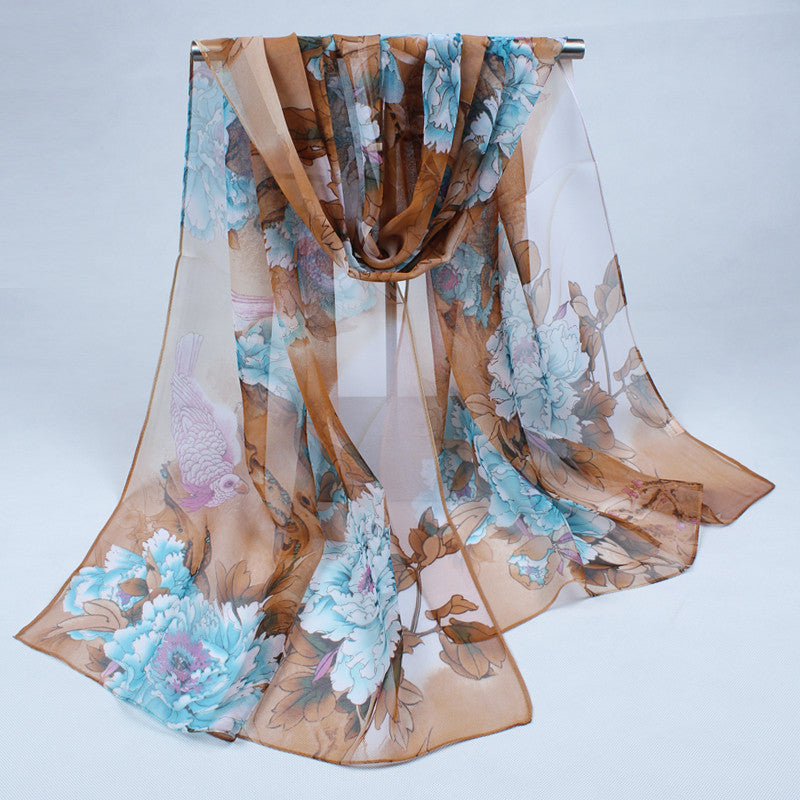 Chiffon silk scarf scarf female summer autumn all-match scarf long