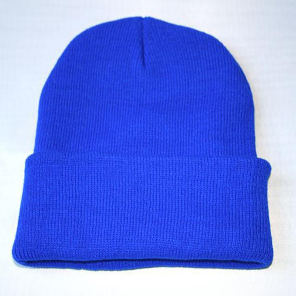 New Fashion Candy Color Woman's Warm Woolen Winter Hats Knitted Fluo