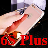 Luxury Mirror Electroplating Soft Clear TPU Cases For iphone 6 / 6S / 7 4.7inch For iPhone6 7 Plus 5.5 inch 5 5s Back Cover Bags