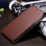 For Galaxy S3 S4 Business Real Genuine Leather Phone Case For Samsung Galaxy S3 I9300 III S4 Magnetic Vertical Flip Cover Bag