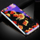 TPU Case for iPhone 6 6S 6Plus New Arrival Cover For Apple 7 7Plus IMD Flower Paris Blu-ray Soft Silicon Design Cell Phone Cases