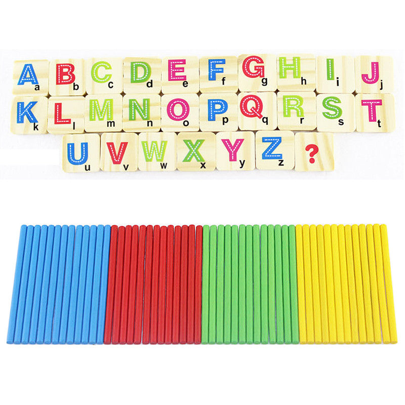Children Wooden Numbers Stick Mathematics Early Learning Counting