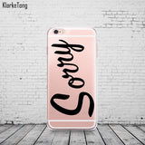 Portuguese Words Amor Love Design Case for iphone 6 6S 5 5s se 7 6plus Transparent Soft Silicone Phone Back Cover Capinha Coque