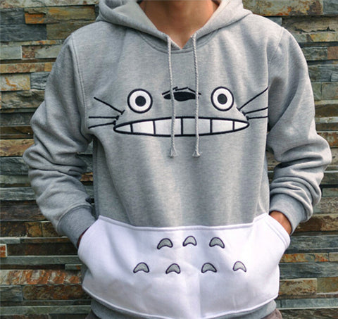 FANALA Thicken Fashion Men/women Cartoon Totoro Hoodie Unisex 3d Sweatshirt Harajuku Animal Patchwork 3d Pullover Hoodies ToPS
