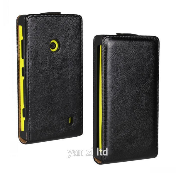 Retro Luxury Mobile Phone Bags Cases Crazy Horse Flip Cover PU Leather Case For Nokia LUMIA 520 N520 For LUMIA 525