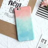 Colorful Gradient Case For iPhone 6 Case For Apple iphone 6S Plus 6Plus 5 5S Cute Sweet Candy Color Phone Cases Back Cover Funda