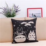 Hot Sale Hayao Miyazaki Totoro Cotton linen Pillow Case For office/bedroom/chair seat cushion 18x18 inches Decorative