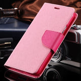 S4 S5 S6 Cases Fashion Hit Color Magnetic Flip PU Leather Phone Case For Samsung Galaxy S3 S4 S7 Card Slot Wallet Holster Cover