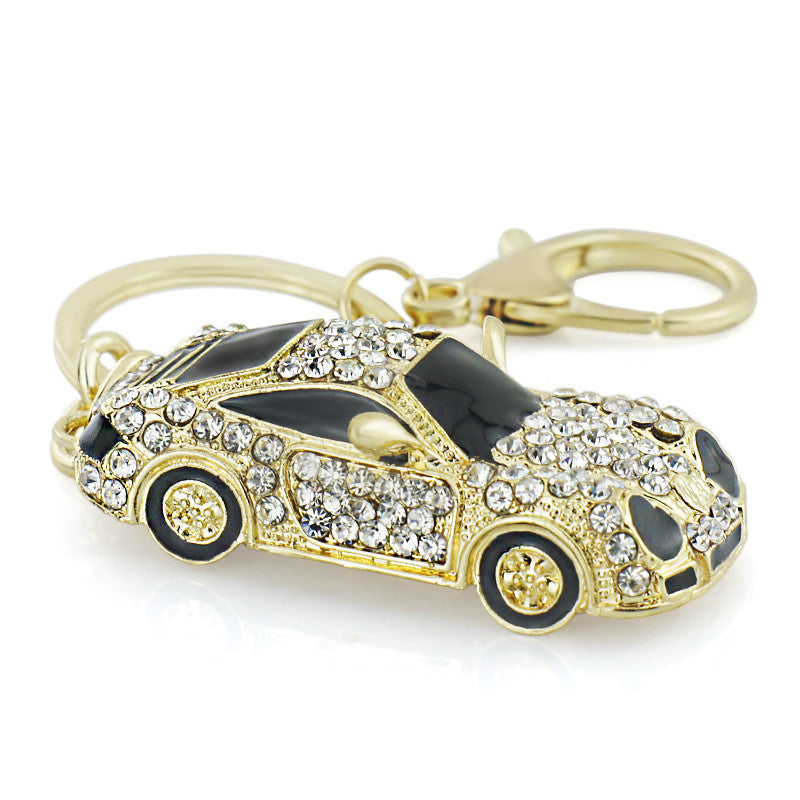 Cool Roadster Sports Car Crystal HandBag Pendant trendy Keyring