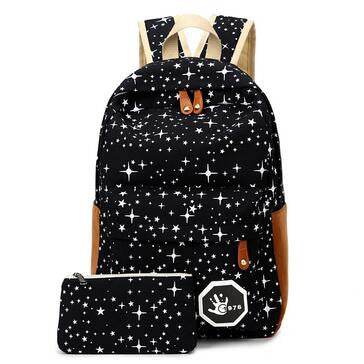 Hot Sale Canvas Women backpack Big Capacity School Bags For