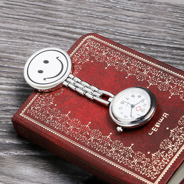 Fashion Stainless Steel Nurse Pocket Fob Watch, New Silver Medical Doctor Brooch Quartz Analog Pendant Watch
