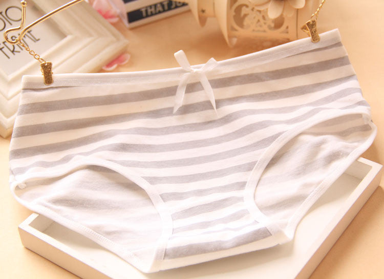 Hot Brand Panties Stripes Navy High Quality Bowknot Tanga Lovely