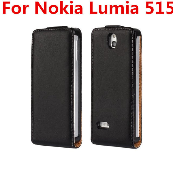 Genuine Leather Cover Flip Case For Nokia Lumia XL 515 625 1020 925 820 900 1320 520 950 640 640XL 435 535 530 830 930 630