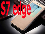 For Fundas Samsung Galaxy S7 Edge Case Luxury Open Window View Flip Leather Case S7 S7 edge Mobile Phone Case Cover Capa Para