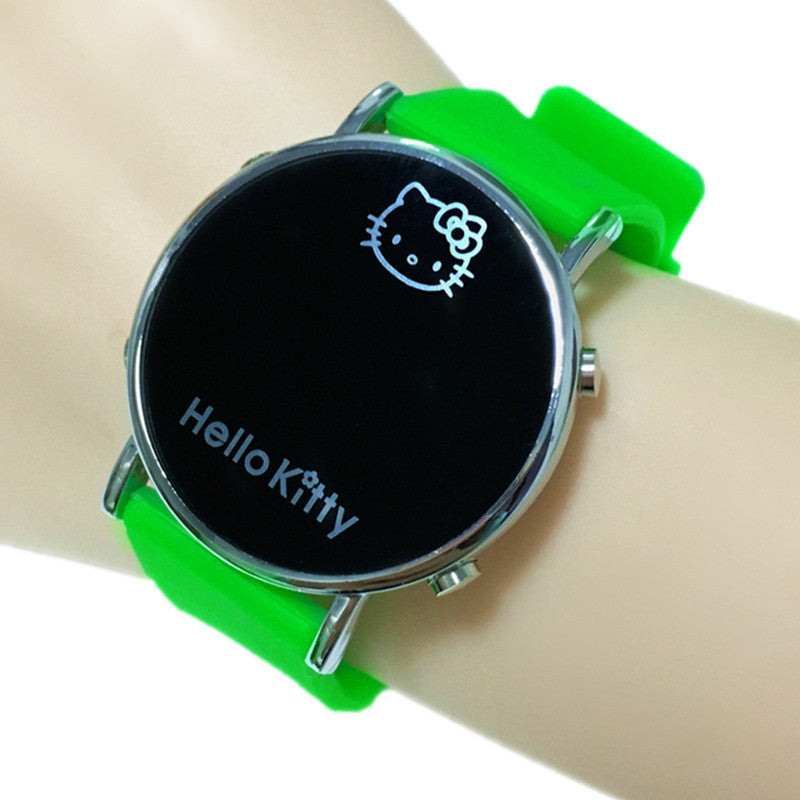 Clock Kitty Fashion Cartoon Watch Hello Kitty Watch for Girls Kid