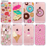 Rainbow Color Food Donuts Macaron Phone Cases For iphone 6 6S 5 5S SE 5C 6Plus 6SPlus 4 4S Silicone Case Cover For iphone 6 Case