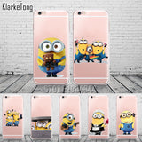 Funny Cartoon Despicable Me Yellow Minions design Cases For iphone 6 6s 5 5s se 7 plus Case Soft Silicone Transparent Cover