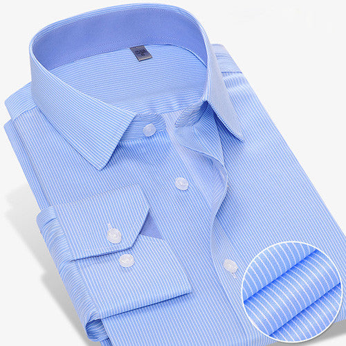 CAIZIYIJIA 2016 Mens Long Sleeve Wrinkle-free Dress Shirt Contrast