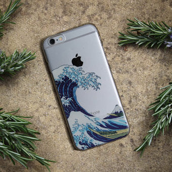 The Great Wave off Kanagawa Soft TPU Phone Case Cover For iPhone 7Plus