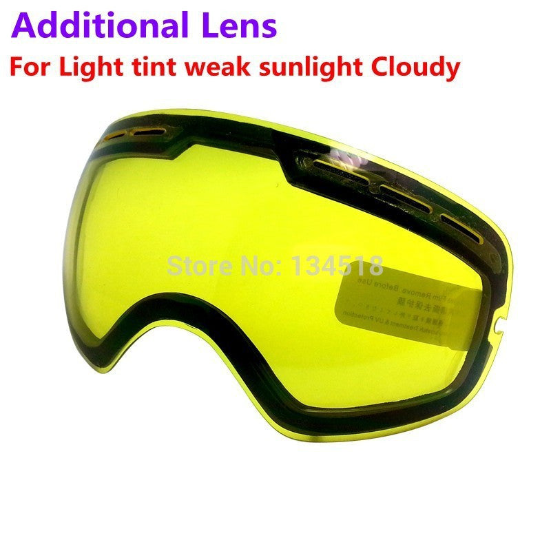 brand double brightening lens for ski goggles Night of Model Number