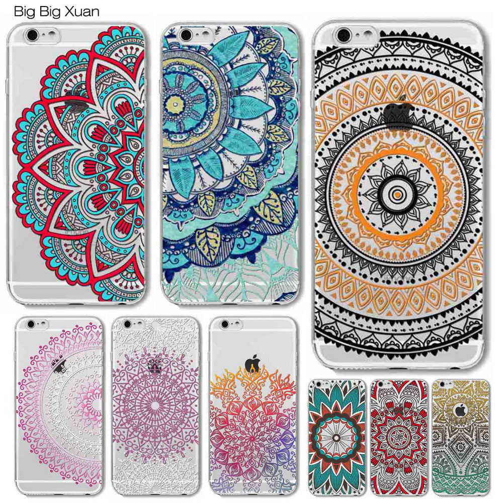 Colorful Floral Paisley Flowers Cases For iphone 6 6S 5 5S SE 5C 6