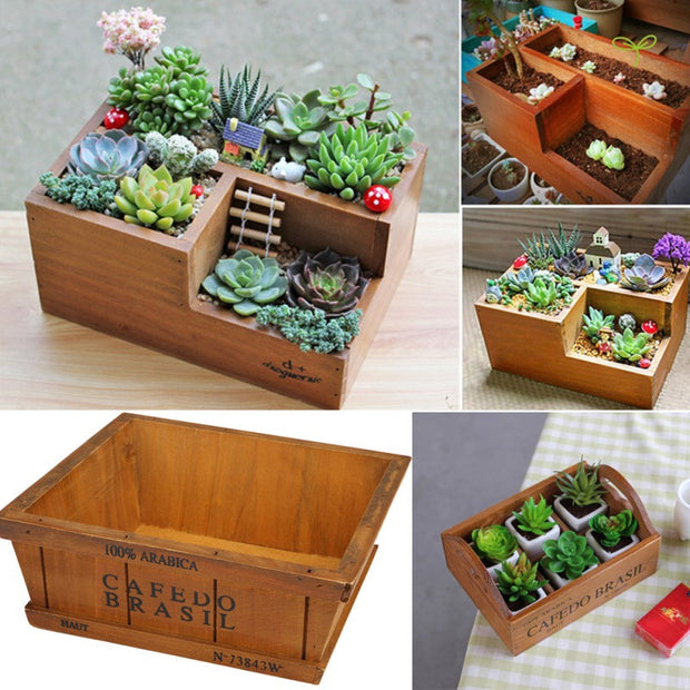 Garden Supplies Wooden Garden Planter Window Box Trough Pot