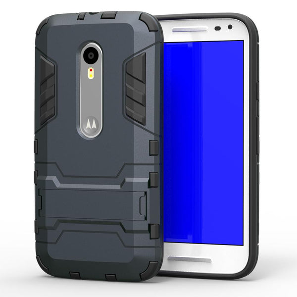 For Motorola Moto G3 Case XT1541 XT1542 XT1543 Shockproof Robot Armor Hybrid Rubber Slim Hard Phone Cover For Moto G 3rd Gen <(