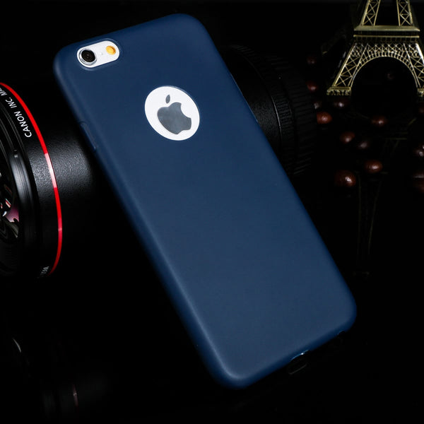 Phone cases for iphone 6 6S 6Plus 7 7Plus 5 5s SE Candy Soft TPU Silicon Ultra thin back cover Logo Window for iPhone6 Plus Case