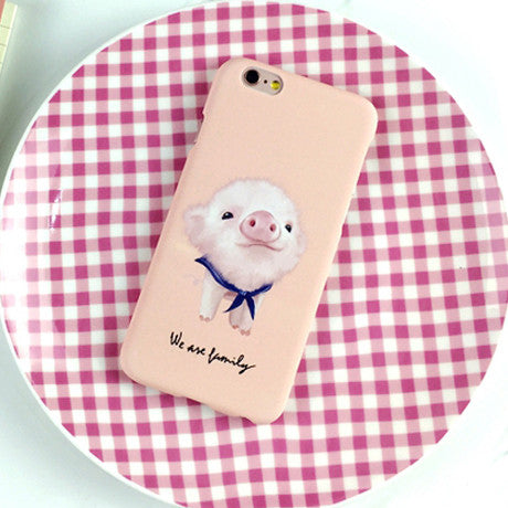 Cute Animal dog frosted Case For Iphone 5 5S 6 6S 6plus 6SPlus Phone