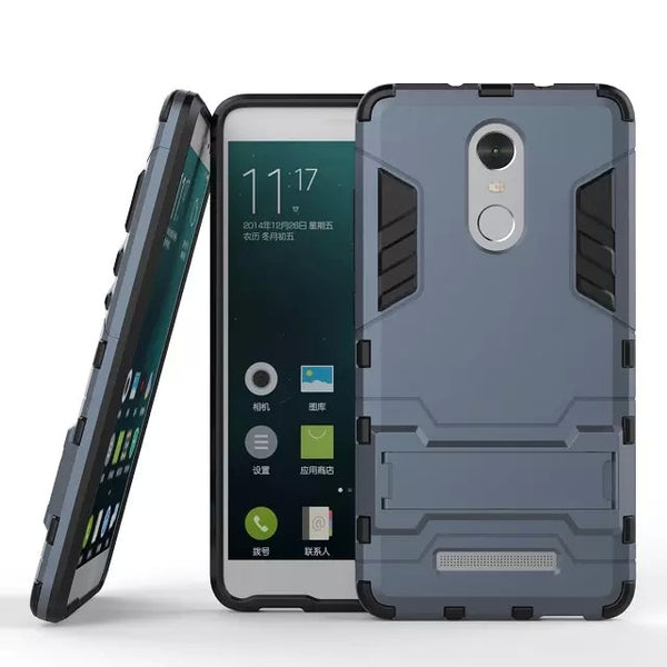 New Arrival Cool Iron Man Armor Dual Phone Cases For Xiaomi Redmi Note 3 Back Cover With Kickstand For Redmi Note 3 Pro Prime (<
