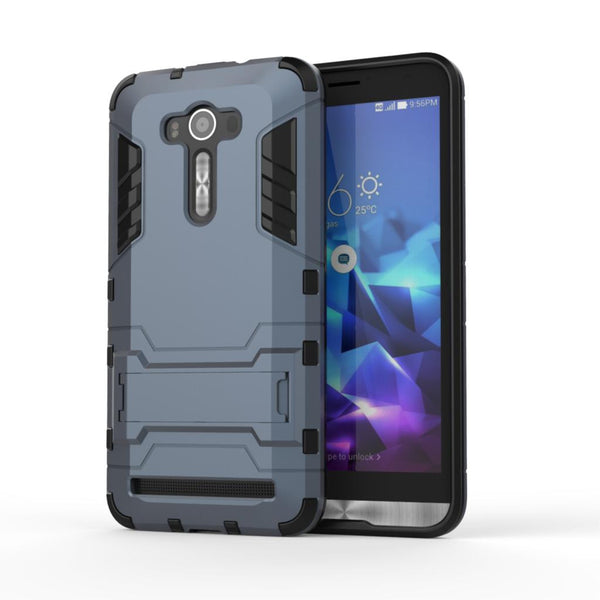"For Asus Zenfone 2 Laser ZE550kl Case ZE551KL Slim Shockproof Robot Armor protector Rugged Rubber Hard Back Stand Cover 5.5"" (<"