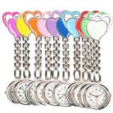 New fasion Sweet Heart Chest Pocket Watch Nurse Table Quartz Alloy with Clip 10 colors Smile