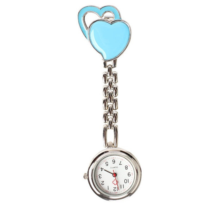 New fasion Sweet Heart Chest Pocket Watch Nurse Table Quartz Alloy