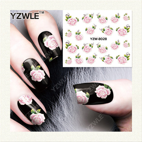 YZWLE 1 Sheet DIY Designer Water Transfer Nails Art Sticker / Nail Water Decals / Nail Stickers Accessories (YZW-8028)