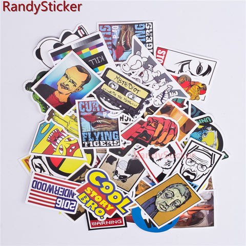 HOT SALE cool Stickers for Skateboard Laptop Luggage Snowboard Fridge Phone toy Styling Vinyl Decal home decor Stickers
