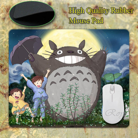 New Anti-Slip PC My Neighbour Totoro Anime Umbrellas Silicon Mouse Pad Mat Mice Pad for Optical