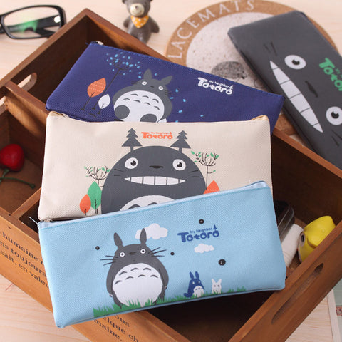 YL129 factory direct selling South Korea cartoon Totoro pencil case students stationery pencil bag