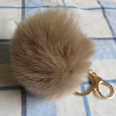 New 12 Color Trinket Keychain Pompons Keychains Fur Keychain Fluffy