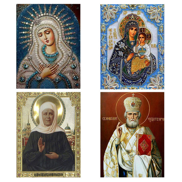 Mosaic 5D DIY Diamond Painting Religious Icon Home Decoration