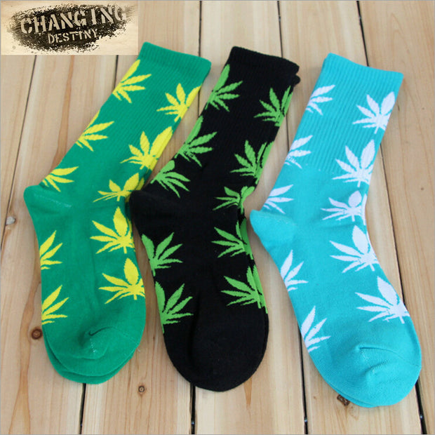 Hot Sales Germany's Harajuku Hiphop Men's Maple Leaf Sock Cotton